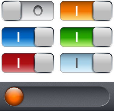 on off switch buttons sets vector illustration