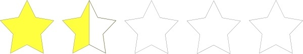 One And A Half Star Rating clip art