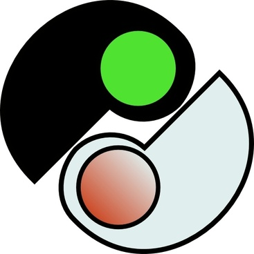 One And Two Yin Yang clip art