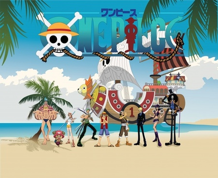 pirates cartoon advertising banner colorful modern decor