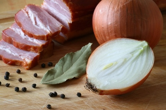onions and bacon definition picture