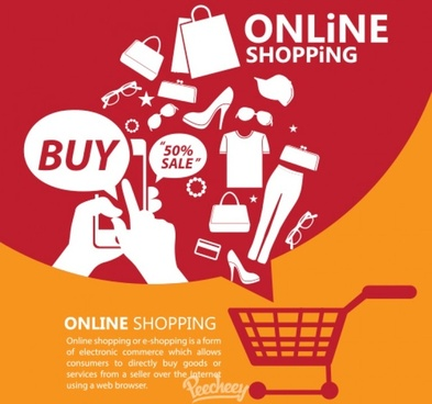 online shopping promotion poster