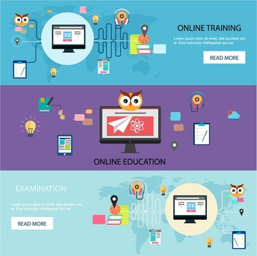 online training promotion web design in horizontal style