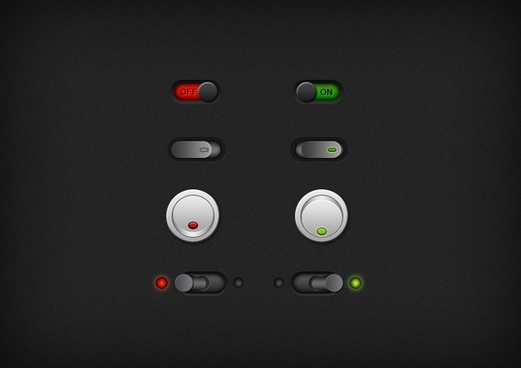 On/Off Switch Buttons