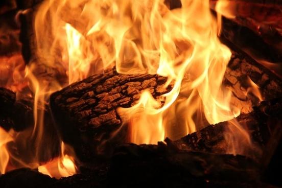open fire fireplace fire