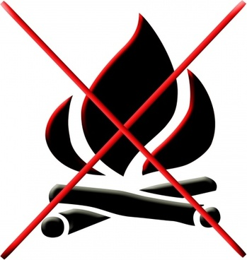 open fires prohibited