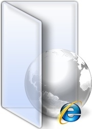 Open folder global earth internet explorer