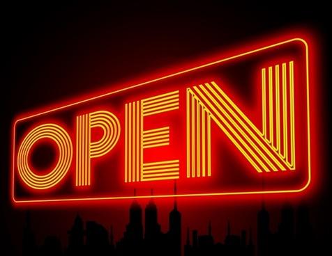 open neon note