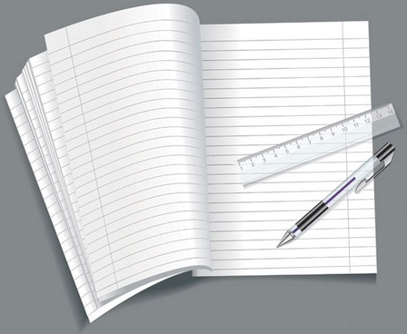 open notepad vector 1