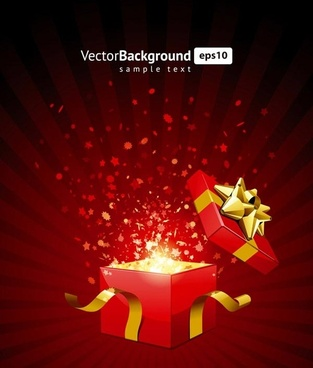 open the vector gifts