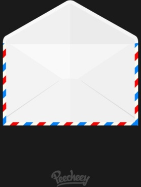opened airmail envelope icon