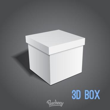 opened white cardboard box
