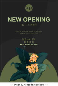 opening banner template classical floras decor dark design