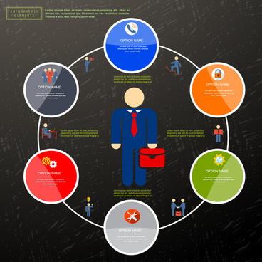 option infographic design with circle cycle style