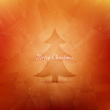 orange abstract christmas tree background
