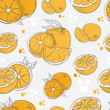 orange background classical handdrawn design