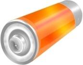 Orange battery