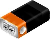 Orange battery cell