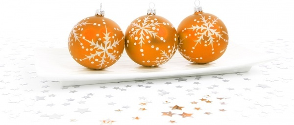 orange bauble decoration