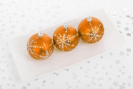 orange bauble decorations