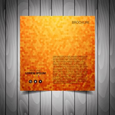 orange business flyer template