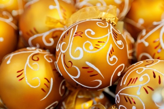 orange christmas balls
