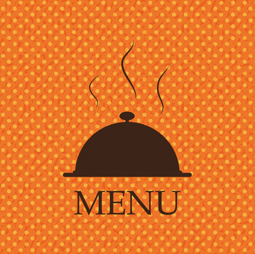 orange dot pattern menu background vector
