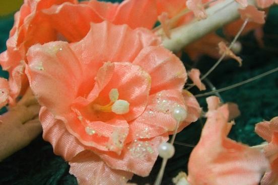 orange flower background 2