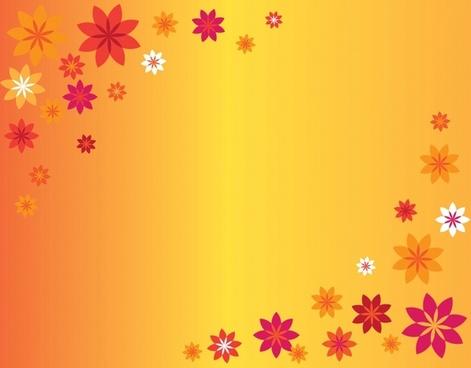 orange flowers illustration