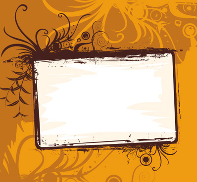 orange frame vector graphic