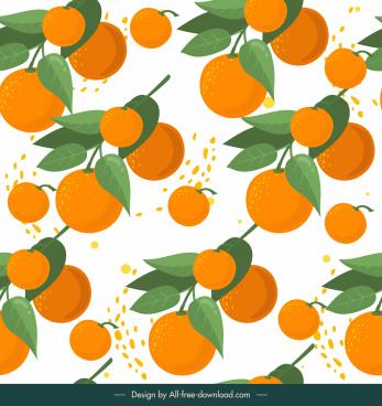 orange fruit pattern bright elegant classic design