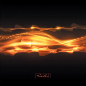 orange glare background 2 vector graphic