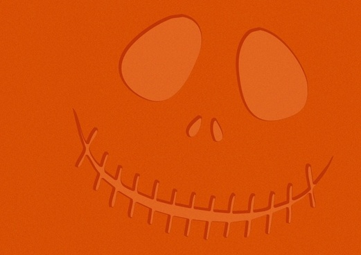 orange halloween face