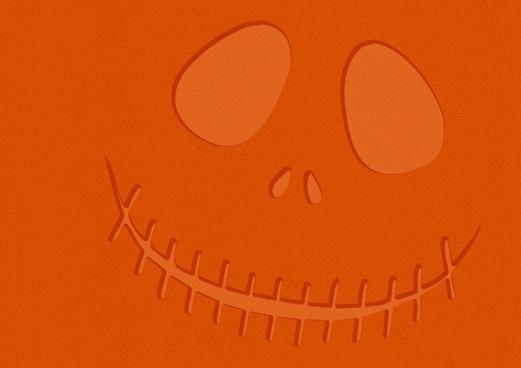 orange halloween face