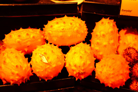 orange horned melon