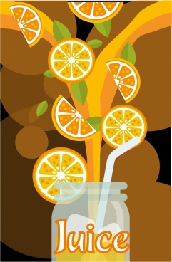 orange juice background pouring jar decoration colorful design