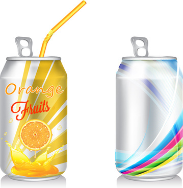 orange juice open can