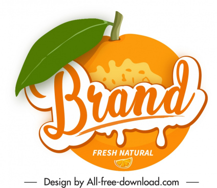 orange label template colored flat sketch