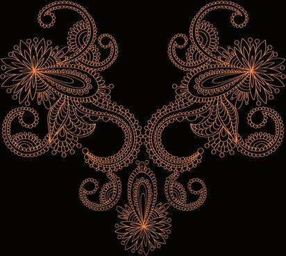 lace decor template classic symmetric shape elegant dark