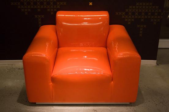 orange latex chair