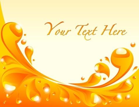 orange liquid background vector 1