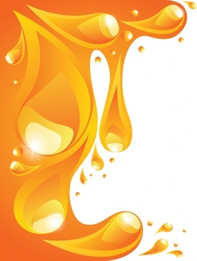 orange liquid background vector