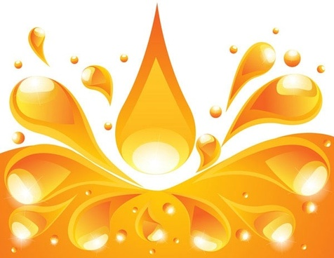 orange liquid background vector 4