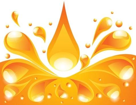 orange liquid background vector 4