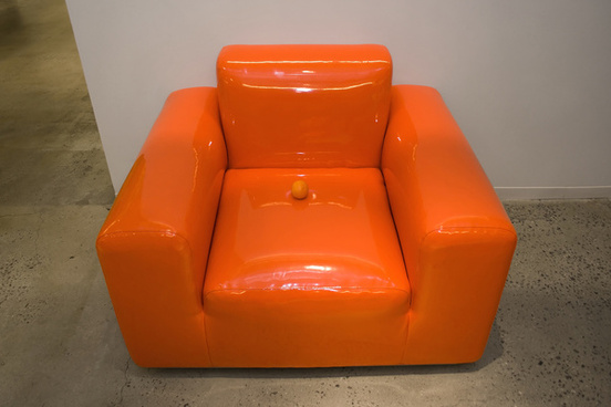 orange on orange latex chair