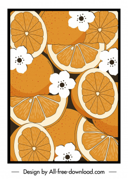 orange painting retro handdrawn flat design
