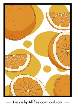 orange pattern retro handdrawn sketch