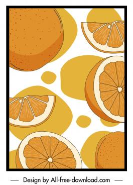 orange pattern retro handdrawn sketch