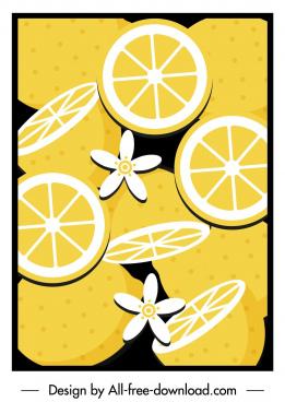 orange pattern template colored retro design