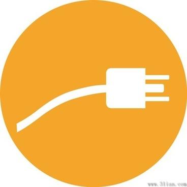 orange plug icon vector